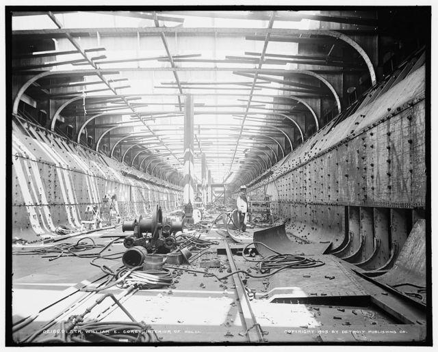 Str. Wm. E. Corey, interior of hold