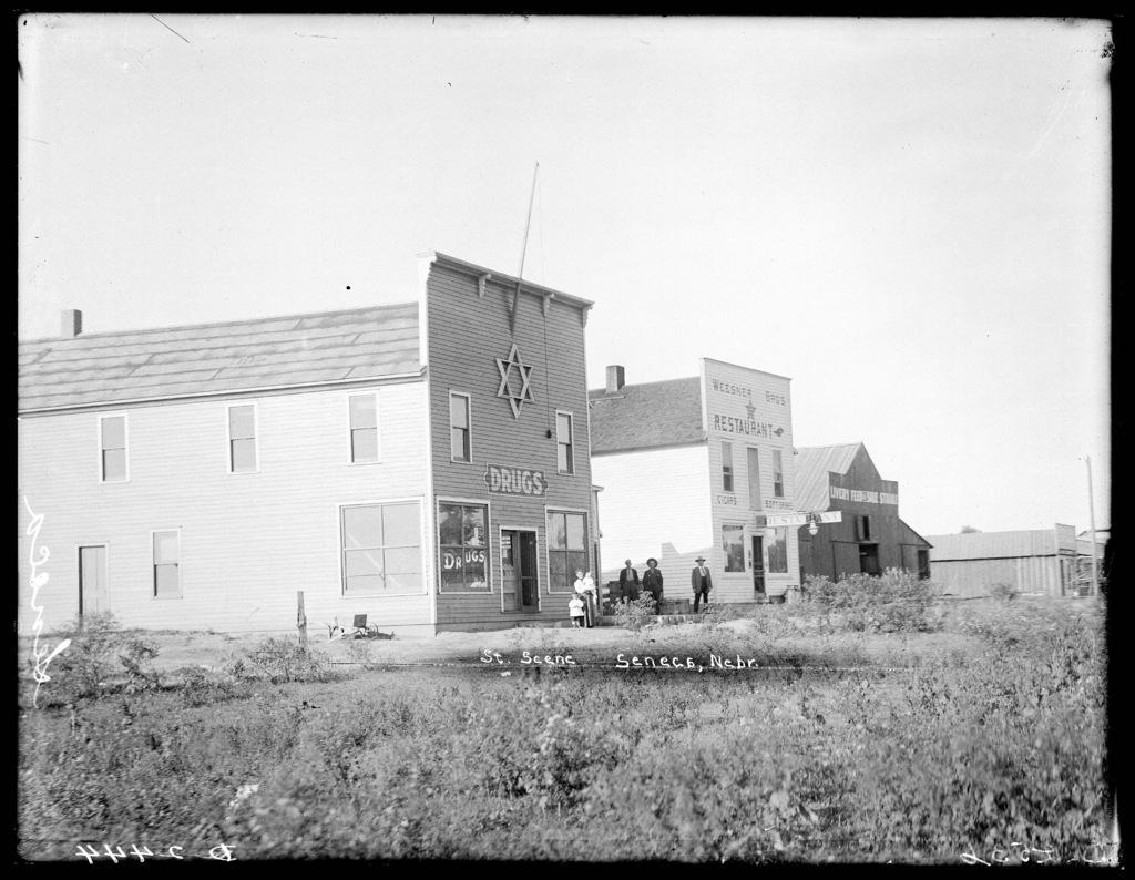 Street scene of Seneca, Nebraska