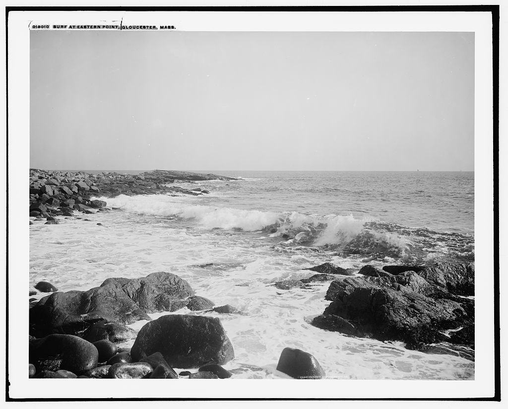Surf at Eastern Point, Gloucester, Mass.