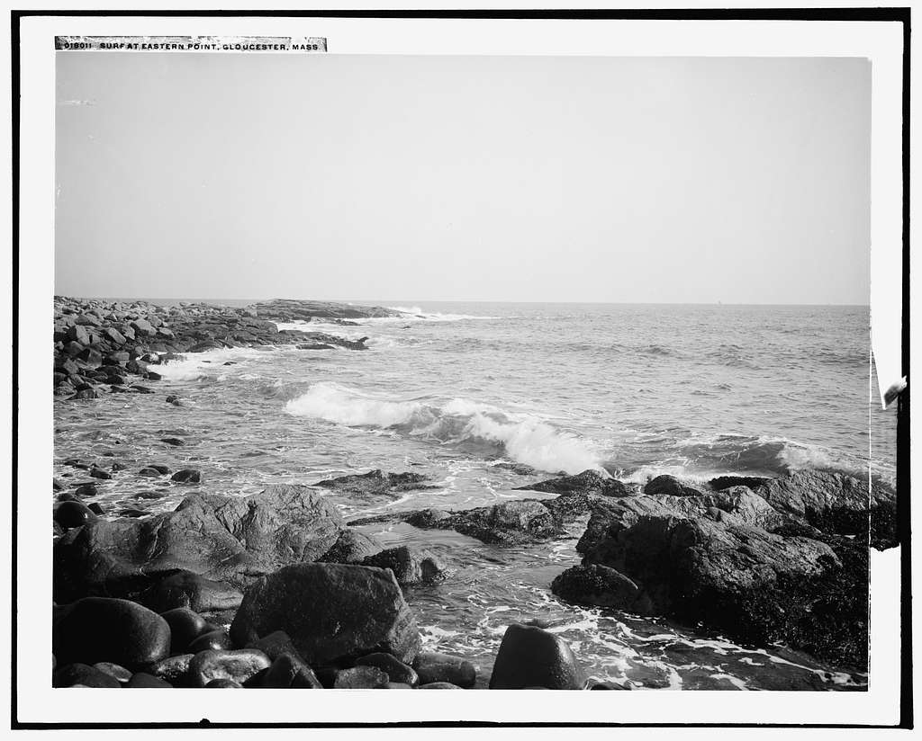 Surf at Eastern Point, Gloucester, Mass
