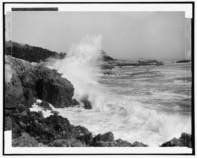 Surf at Marblehead Neck, Mass.