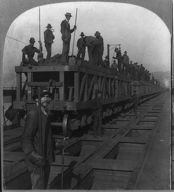 Surface of ore dock, Two Harbors, Minn., U.S.A.