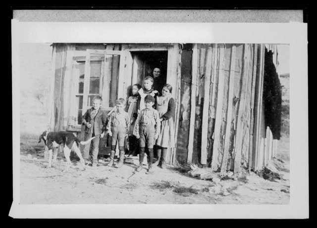 Tar paper school house in Cherry County, Nebraska .
