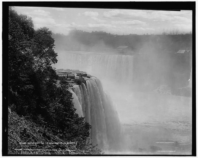 Terrapin Pt. [Point], and the Horseshoe Falls, Niagara