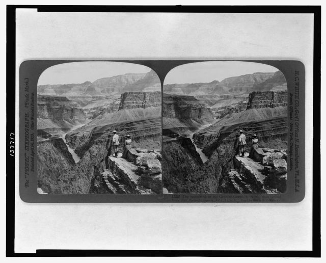 The beginning of the Granite Gorge, E.N.E., from Grand View Trail, Grand Canyon, Ariz., U.S.A.