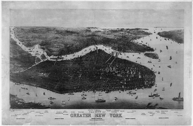 The city of greater New York / [...] Charles Hart.