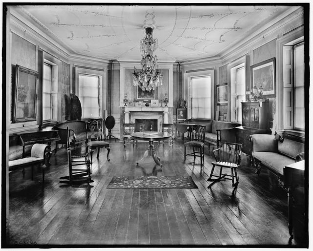 [The Council chamber, Washington's headquarters [i.e. Morris-Jumel mansion], New York. N.Y.]