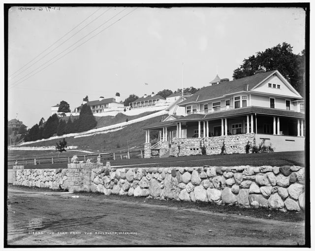 The Fort [Fort Mackinac] from the boulevard, Mackinac