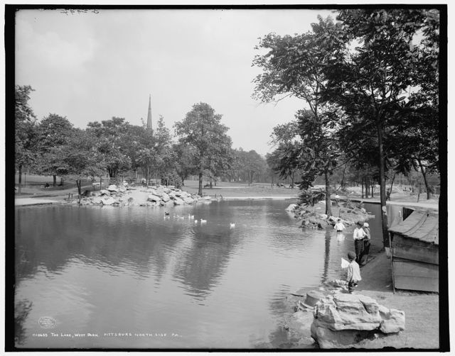 The Lake, West Park, Pittsburg, north side, Pa.