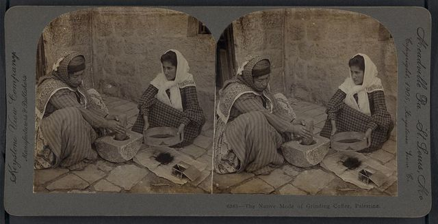 The native mode of grinding coffee, Palestine