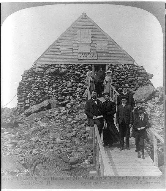 The old Tip-Top House on Mt. Washington's summit, 6290 ft. above the sea--N.H.