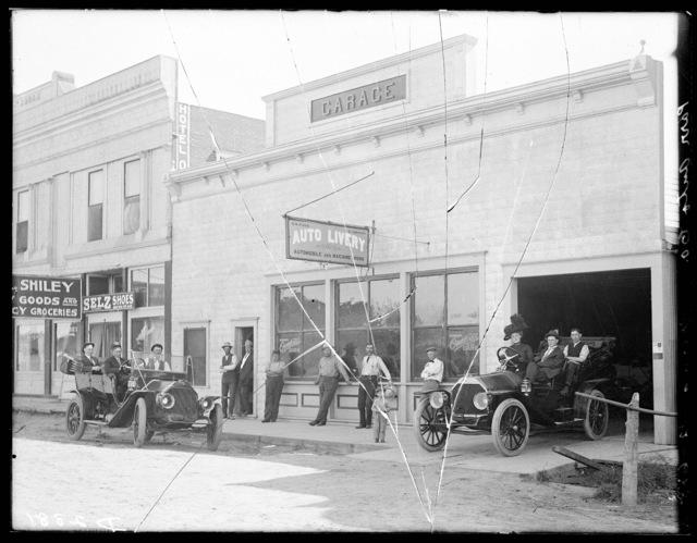 The O.W. Parr and X.D. Johnson Auto Livery, Merna, Nebraska.
