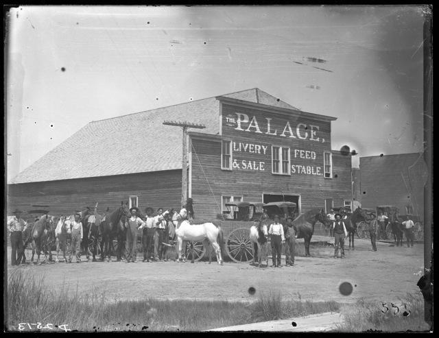 The Palace livery barn in Lexington, Dawson County, Nebraska