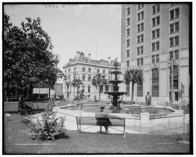 The Plaza fountain, [Plaza Ferdinand VII], Pensacola, Fla.