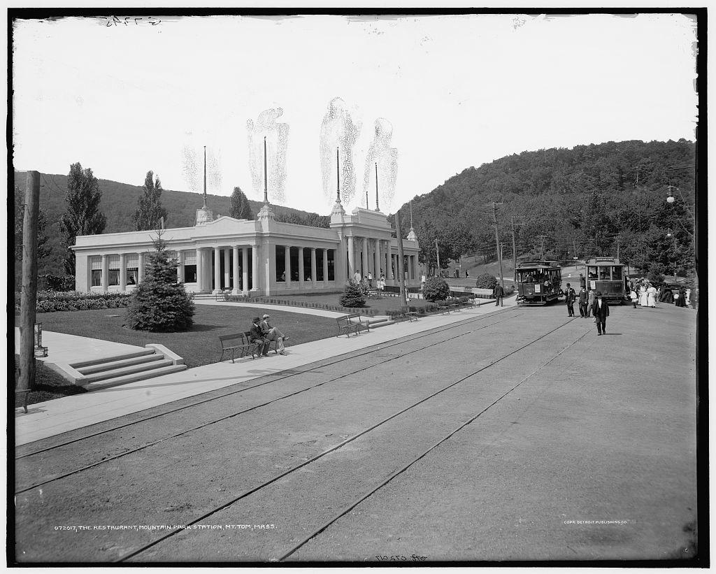 The Restaurant, Mountain Park station [Mount Tom Railway], Mt. Tom, Mass.