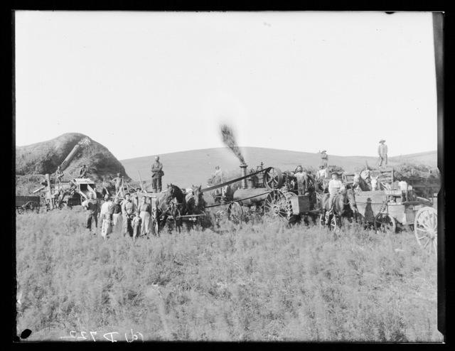 Threshing in Dawson County, Nebraska.