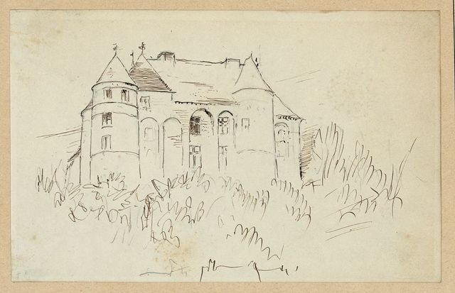 [Travel sketch of a chateau]