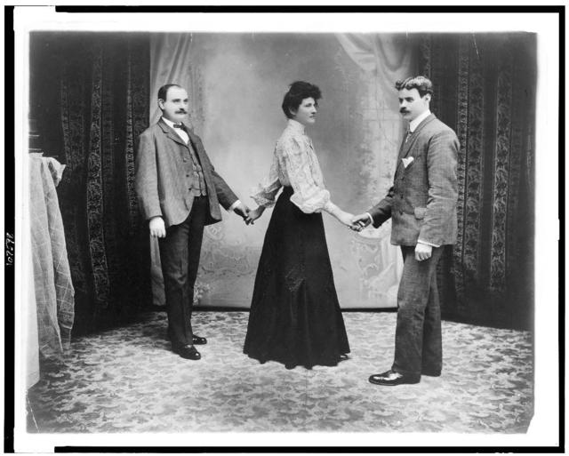 [Two men and a woman dancing three hand reel] / D.A. Sigerist, fotographers, N.Y.C.