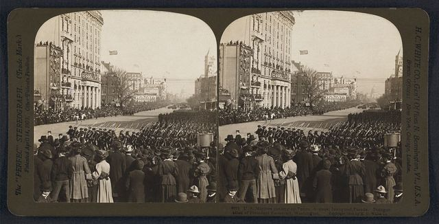 U.S. Marines passing up Penna. Avenue, inaugural parade, inauguration of  President Roosevelt, Washington, D.C.