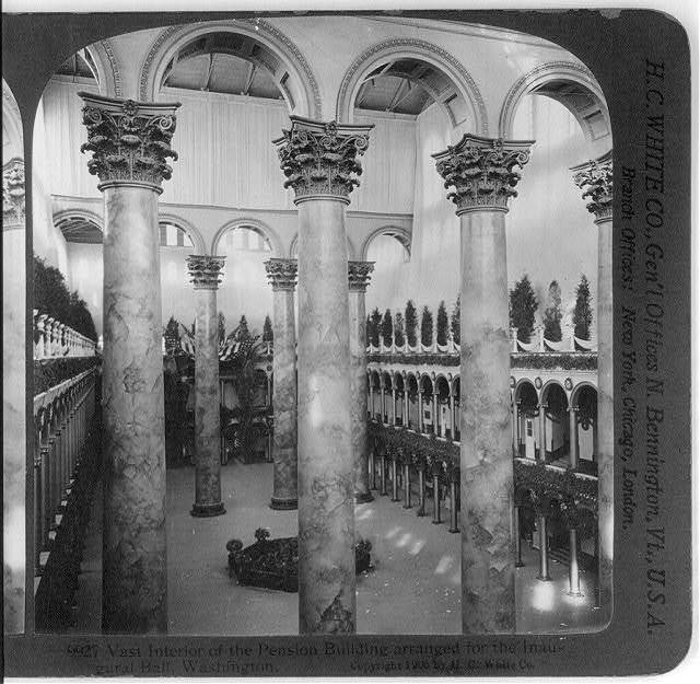 Vast interior of the Pension Building arranged for the Inaugural Ball, Washington