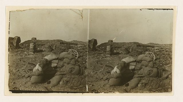 [Within a damaged Russian battery (Fort No. 3) just after a fierce assault -- Port Arthur]