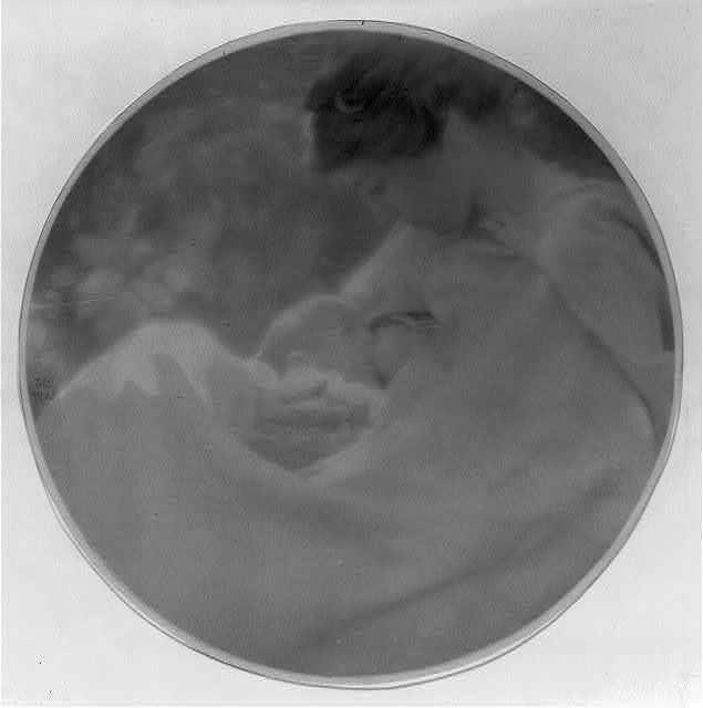 [Woman (Beatrice Baxter Ruyl), in white cape, breastfeeding infant (Ruth Ruyl)]