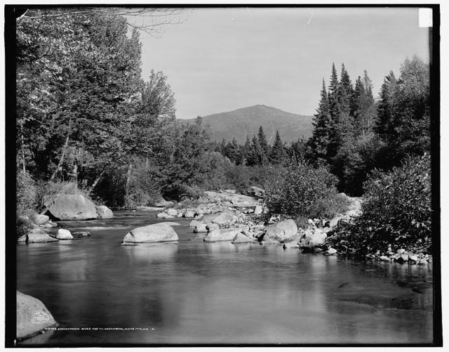 Ammonoosuc River and Mt. Washington, White Mts., N.H.