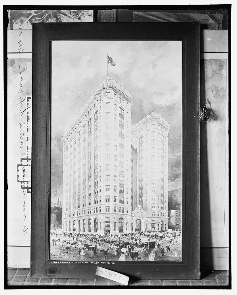 B. & O. R.R. [i.e. Baltimore and Ohio Railroad] Co. office building, Baltimore, Md.