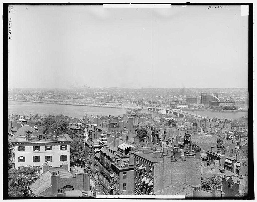 Back Bay and Charles River, Boston, Mass.