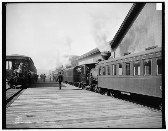 Base station, Mt. Washington Railway, White Mts., N.H.