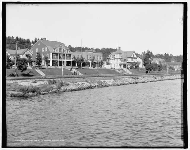 Bay St. from the dock, Harbor Springs, Mich.