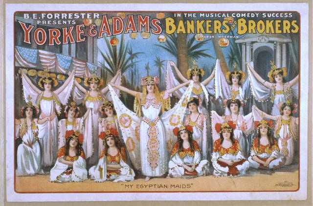 B.E. Forrester presents Yorke & Adams in the musical comedy success Bankers and brokers by Aaron Hoffman
