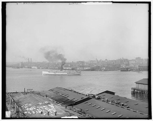 Boston harbor from East Boston, Mass.