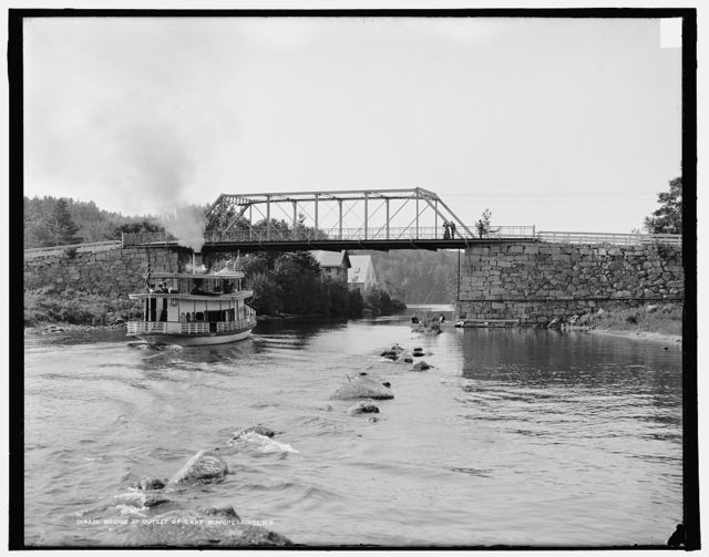 Bridge at outlet of Lake Winnipesaukee, N.H.