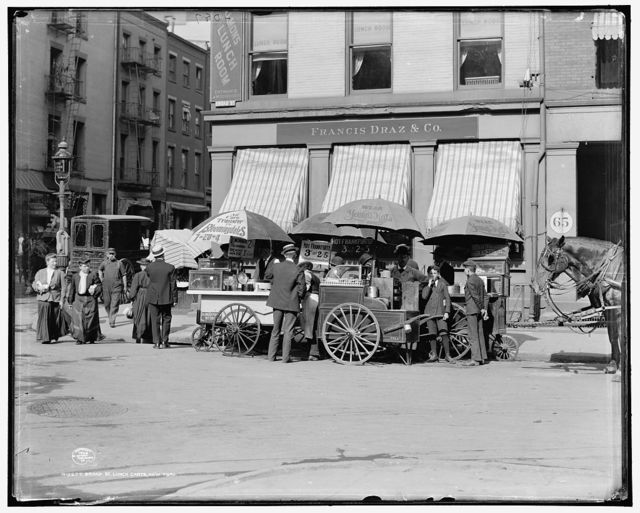 Broad St. lunch carts, New York, N.Y.