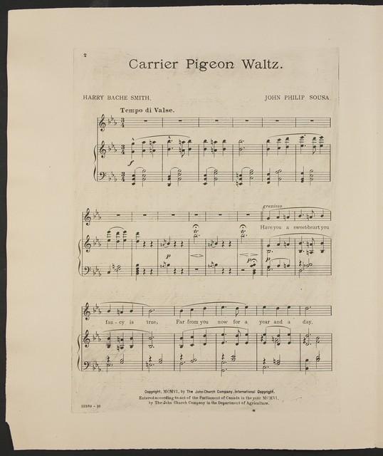 Carrier pigeon waltz
