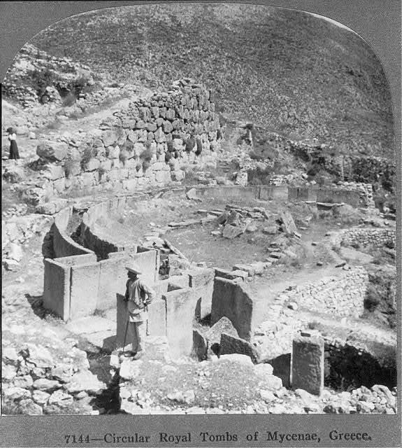 Circular royal tombs of Mycenae, Greece
