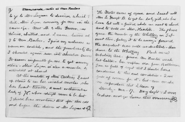 Clara Barton Papers: Diaries and Journals: 1906, Dec. 15-16, diary note