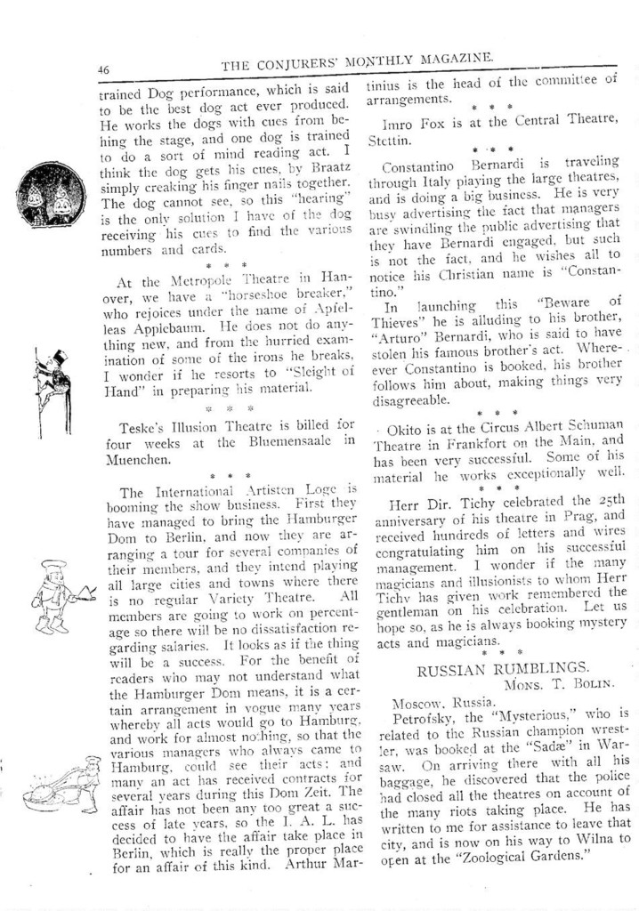 Conjurers' Monthly Magazine, October 15, 1906