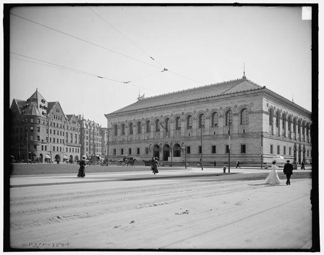 Copley Square, Trinity Church, Art Museum, Public Library, Boston, Mass.