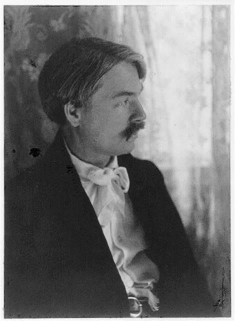 [Edward Alexander MacDowell, 1861-1908, half-length portrait, facing right]