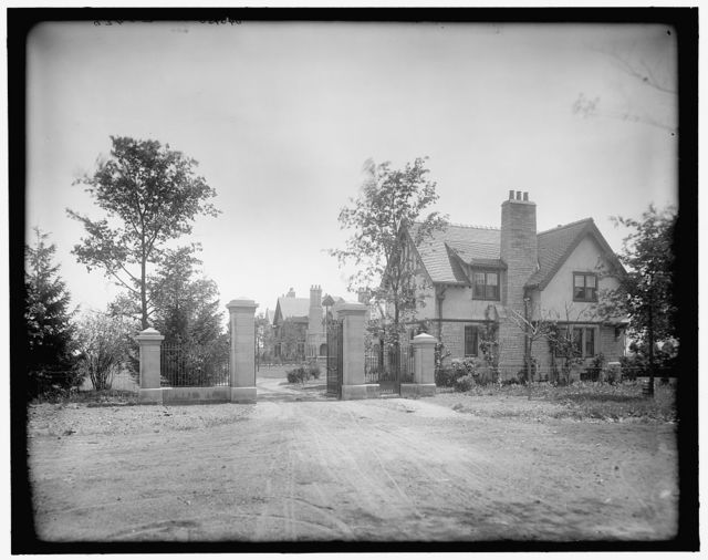 [Edward C. Walker residence, gate & lodge, Walkerville, Ont.]