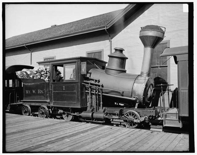 Engine, Mt. Washington Railway, White Mts., N.H.