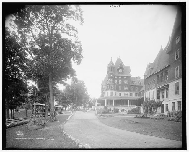 Entrance to Hotel Victory, Put-In-Bay, Ohio