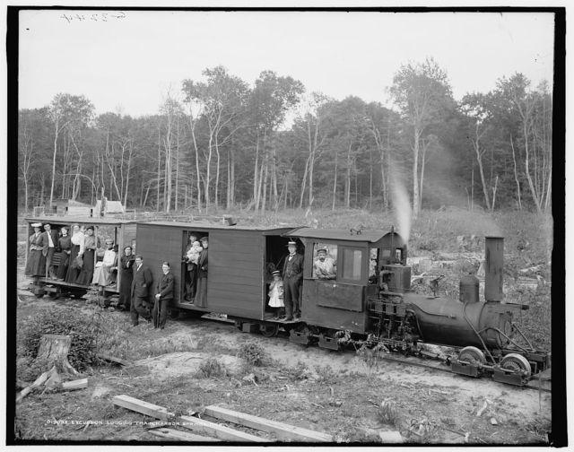 Excursion logging train, Harbor Springs, Mich.