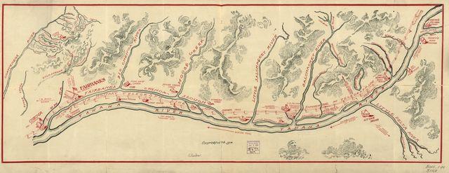 [Fairbanks Alaska region showing U.S. military telegraph line].