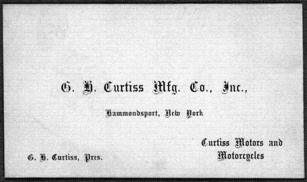 General Correspondence:  Curtiss, Glenn H., 1906-1915