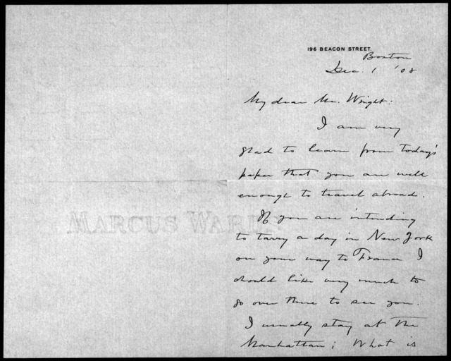 General Correspondence:  Means, James, 1906-1921, 1942