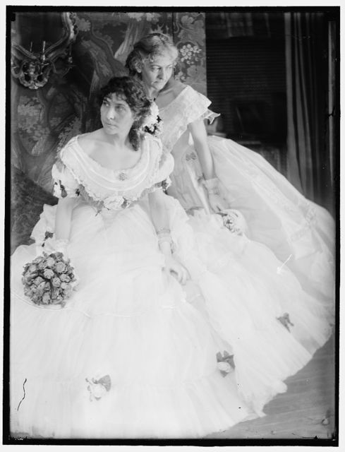[Gerson sisters in costumes for the Crinoline Ball held in New York City]