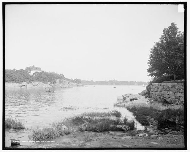 Glimpse of harbor, West Manchester, Mass.